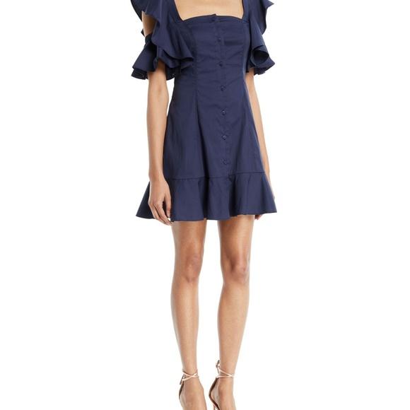 7c39cfc3168e Kendall   Kylie – Ruffle Sleeve Dress Navy   XS